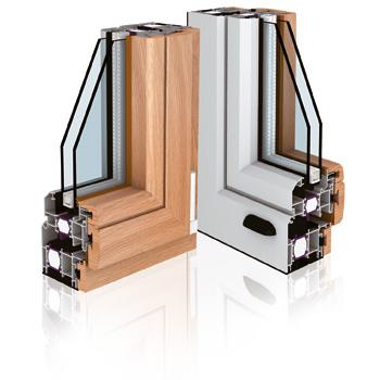 Finestre legno alluminio fabbroni serramenti arezzo for Finestre in alluminio anodizzato