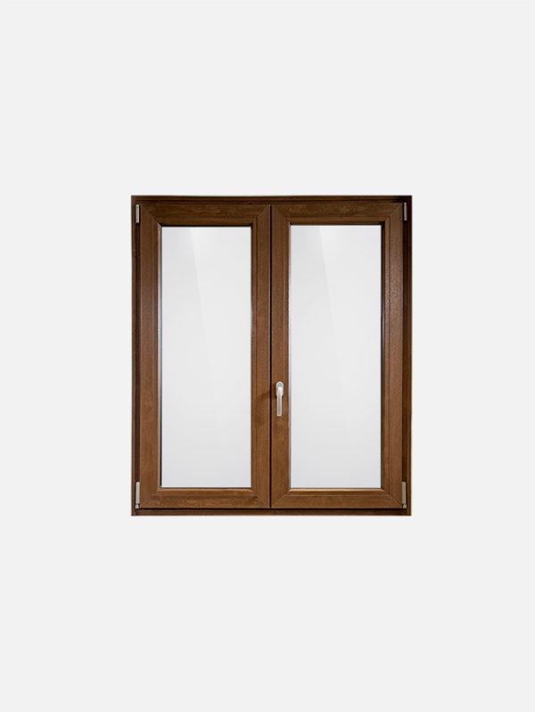 Finestra in pvc effetto legno scuro with pvc finto legno - Finestre usate in pvc ...