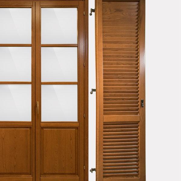Persianone in castagno tinto fabbroni serramenti - Pannello decorativo per porte ...