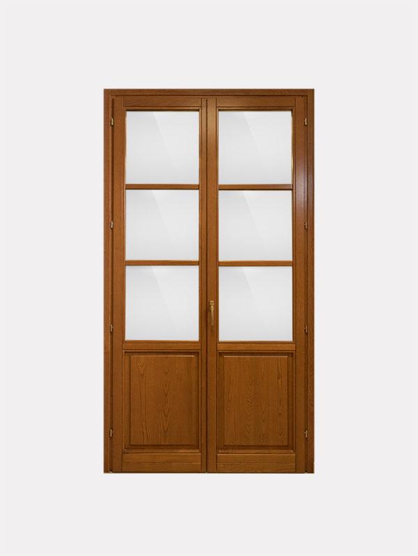 Portafinestra con pannello bugnato in castagno fabbroni serramenti - Porta finestra o portafinestra ...